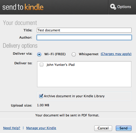 how to move ipad kindle mobi files to pc